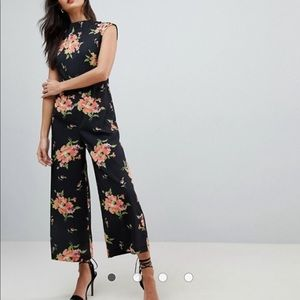 NWT ASOS Jumpsuit with High Neck and Wide Leg